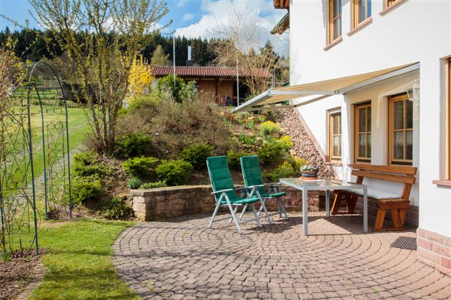 Terrasse der Ferienwohnung Burgblick