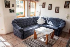 Wohnzimmer der Ferienwohnung Burgblick