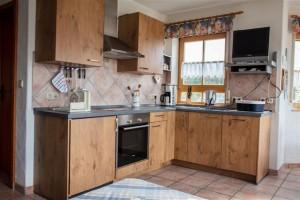 Küche der Ferienwohnung Burgblick