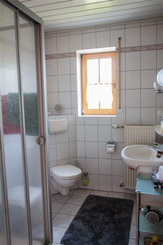 Badezimmer der Ferienwohnung Burgblick