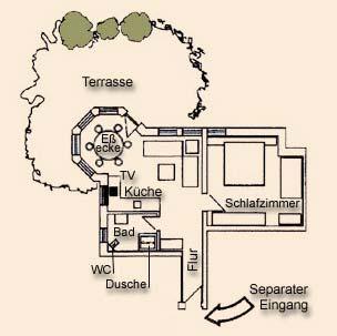 Grundriss der Ferienwohnung Burgblick